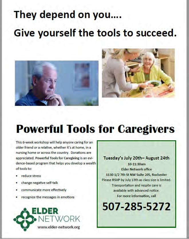 Powerful tools for caregivers class information