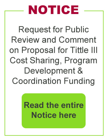 Notice request for public review and comment on proposal for title 3 cost sharing program development coordination funding